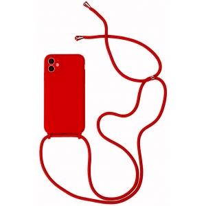 Dėklas Strap Silicone Case Apple iPhone 12 mini raudonas