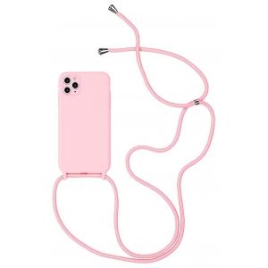 Dėklas Strap Silicone Case Apple iPhone 12 mini rožinis