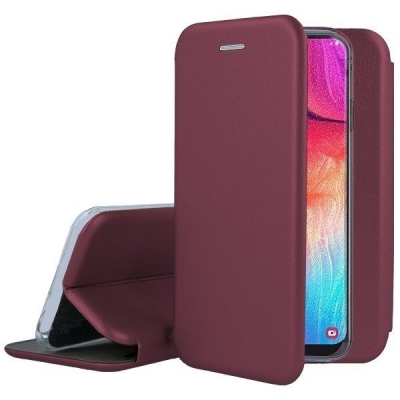 Dėklas Book Elegance Samsung A530 A8 2018 bordo