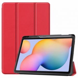 Dėklas Smart Leather Samsung T970 / T976 Tab S7+ raudonas