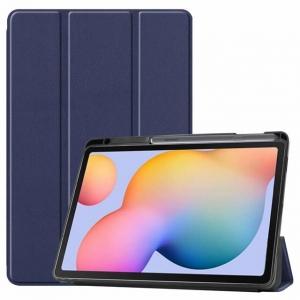 Dėklas Smart Leather Samsung T970 / T976 Tab S7+ tamsiai mėlynas