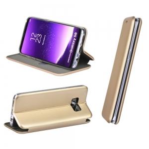 Dėklas Book Elegance Samsung G925 S6 Edge auksinis