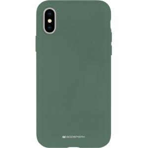 Dėklas Mercury Silicone Case Apple iPhone 12 mini tamsiai žalias