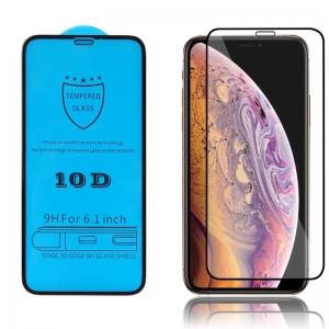 LCD apsauginis stikliukas 10D Full Glue Apple iPhone 12 Pro Max lenktas juodas