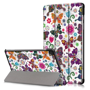 Dėklas Smart Leather Samsung T500 / T505 Tab A7 10.4 2020 butterfly