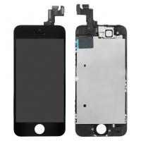 Ekranas Apple iPhone 5S / SE su lietimui jautriu stikliuku juodas ZY