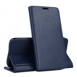 Dėklas Smart Magnetic Xiaomi Mi Note 10 Lite tamsiai mėlynas