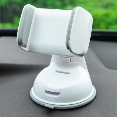 Automobilinis Universalus telefono laikiklis Hoco CA5, tvirtinamas prie lango, trumpa-standi kojelė baltas