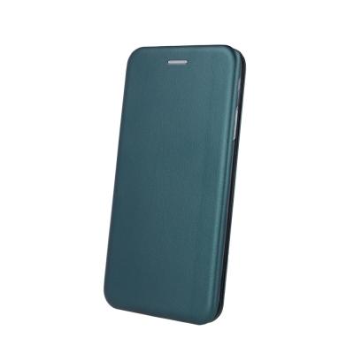 Dėklas Book Elegance Apple iPhone 12 / 12 Pro tamsiai žalias
