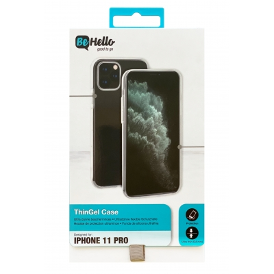 Dėklas BeHello ThinGel Apple iPhone 12 / 12 Pro skaidrus