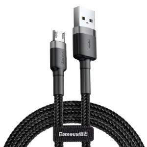USB kabelis Baseus Cafule Type-C 2.0m 2.0A pilkas-juodas CATKLF-CG1