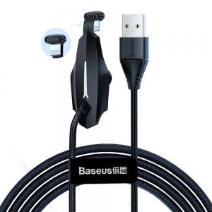 USB kabelis Baseus Colorful Suction Mobile Game USB to Lightning 1.5A 2m juodas CALXA-B01