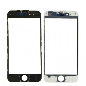 LCD stikliukas Apple iPhone 6 su rėmeliu ir OCA juodas V3