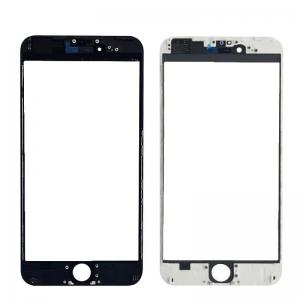 LCD stikliukas Apple iPhone 6 Plus su rėmeliu ir OCA baltas V3