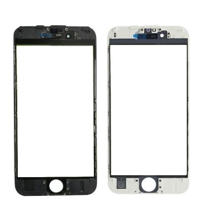 LCD stikliukas Apple iPhone 6S su rėmeliu ir OCA baltas V3