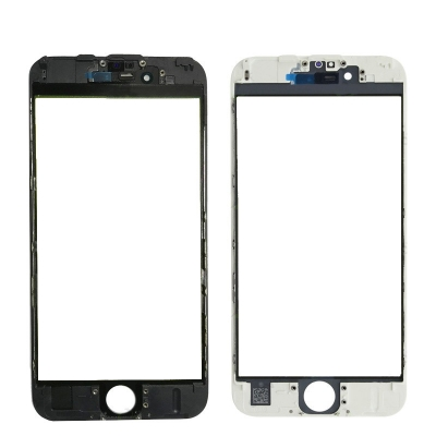 LCD stikliukas Apple iPhone 6S su rėmeliu ir OCA juodas V3