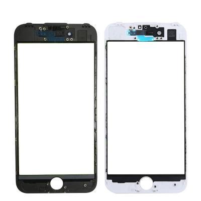 LCD stikliukas Apple iPhone 7 su rėmeliu ir OCA baltas V3