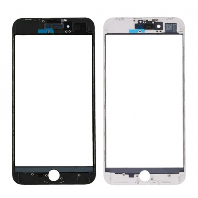 LCD stikliukas Apple iPhone 8 Plus su rėmeliu ir OCA juodas V3