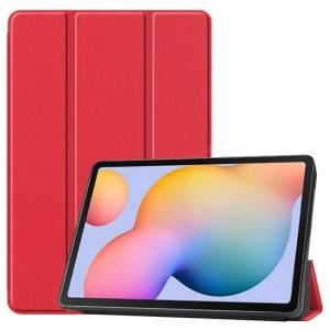Dėklas Smart Leather Samsung T500 / T505 Tab A7 10.4 2020 raudonas
