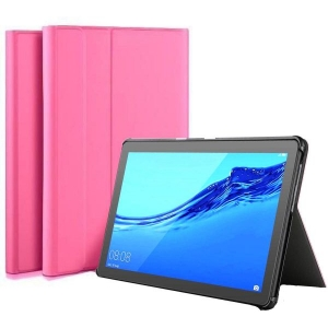 Dėklas Folio Cover Samsung T510 / T515 Tab A 10.1 2019 rožinis