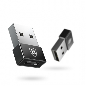 Adapteris Baseus Exquisite iš USB į Type-C juodas CATJQ-A01