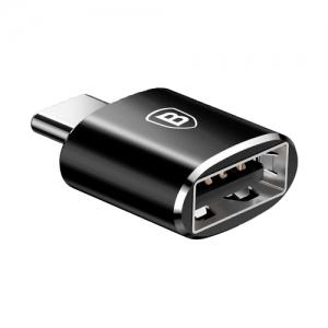 Adapteris Baseus Exquisite iš Type-C Male į USB juodas CATJQ-B01