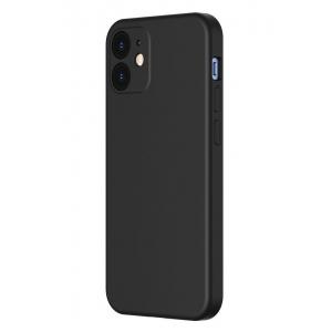 Dėklas Baseus Liquid Silica Gel Apple iPhone 12 mini juodas WIAPIPH54N-YT01