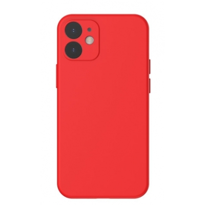 Dėklas Baseus Liquid Silica Gel Apple iPhone 12 raudonas WIAPIPH61N-YT09