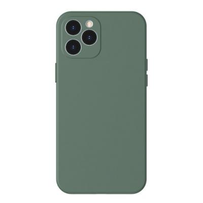 Dėklas Baseus Liquid Silica Gel Apple iPhone 12 Pro Max žalias WIAPIPH67N-YT6A