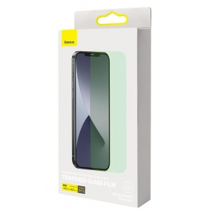 LCD apsauginis stikliukas Baseus 0.3mm Eye potection Full Coverage For iPhone 12 / 12 Pro (2vnt.) SGAPIPH61P-LP02