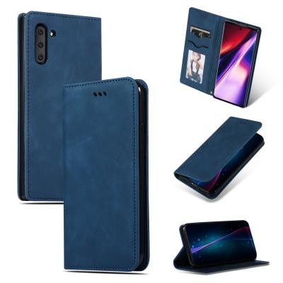 Dėklas Business Style Samsung A525 A52 / A526 A52 5G tamsiai mėlynas