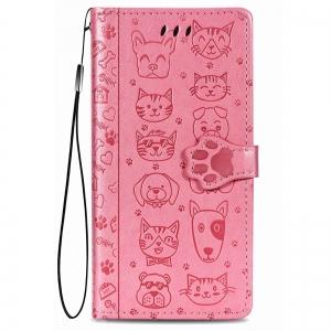 Dėklas Cat-Dog Samsung A725 A72 rožinis