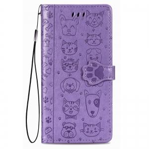 Dėklas Cat-Dog Samsung A41 A415 purpurinis