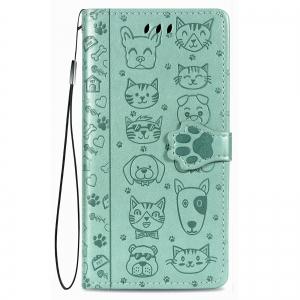 Dėklas Cat-Dog Samsung A41 A415 žalias