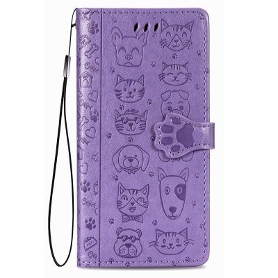 Dėklas Cat-Dog Huawei P30 Lite violetinis