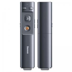 Lazerinė rodyklė Baseus Orange Dot Wireless Presenter (Red Laser) pilka ACFYB-0G