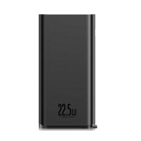 Išorinė baterija Power Bank Baseus Starlight Quick Charge 3.0 (3A) su LCD ekranu 20000mAh juoda PPXC-01
