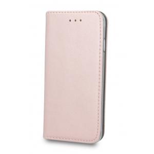 Dėklas Smart Magnetic Samsung A125 A12 rožinis-auksinis