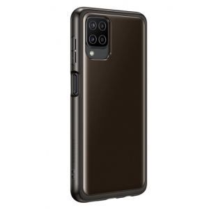 Dėklas originalus Samsung Soft Clear Cover Samsung A125 A12 EF-QA125TBEGEU juodas