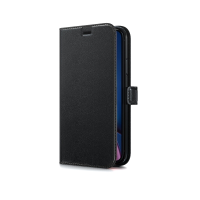 Dėklas BeHello Gel Wallet Samsung G990 S21 juodas