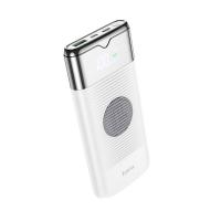 Išorinė baterija Power Bank Hoco J63 Type-C PD+Quick Charge 3.0 (3A) su LCD ekranu ir bevieliu krovimu 10000mAh balta