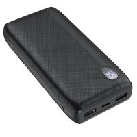 Išorinė baterija Power Bank Hoco J53A 2XUSB 20000mAh juoda