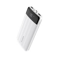 Išorinė baterija Power Bank Borofone BT21A su LCD ekranu 20000mAh balta