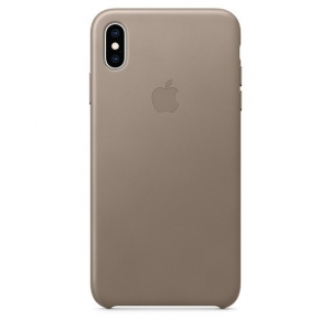 Dėklas originalus MRWR2ZM / A Leather Apple iPhone XS Max pilkas