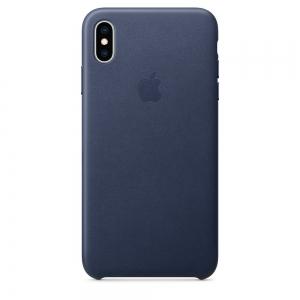 Dėklas originalus MRWU2ZM / A Leather Apple iPhone XS Max mėlynas