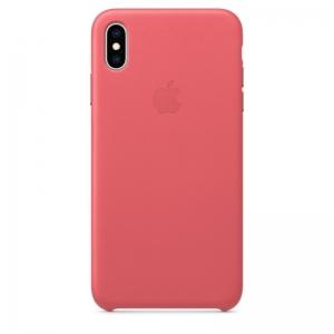 Dėklas originalus MTEX2ZM / A Leather Apple iPhone XS Max rožinis