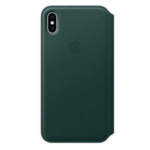 Dėklas originalus MRX42ZM / A Leather Folio Apple iPhone XS Max žalias