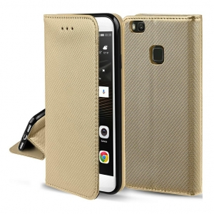 Dėklas Smart Magnet Xiaomi Mi 11i / Poco F3 / Poco F3 Pro / Redmi K40 / Redmi K40 Pro auksinis