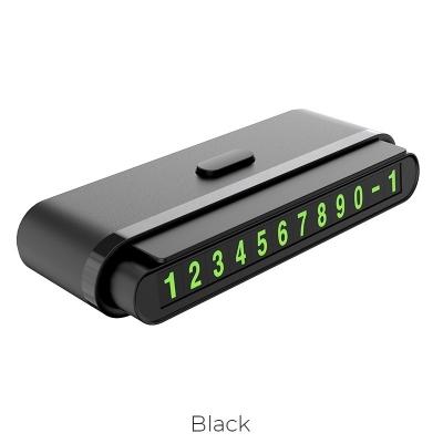 Automobilinė informacinė lentelė One-click Hoco CPH19 juoda