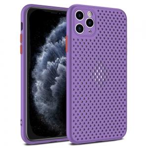 Dėklas Breath Case Apple iPhone 12 / 12 Pro violetinis
